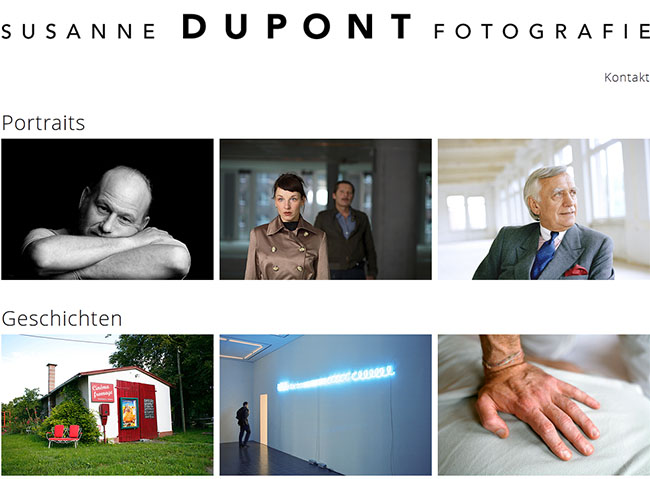 Website Susanne Dupont