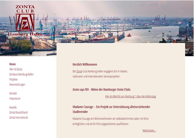 Screenshot Zonta Club Hamburg Hafen