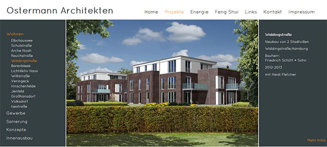 Website Ostermann Architekten